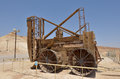 Masada stronghold israel isr apr reconstruction of a roman siege engine under in the judaean desert is one of Stock Image