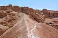 Masada stronghold israel isr apr visitors in in the judaean desert is one of s most popular tourist Royalty Free Stock Photo