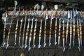 Masai spears Royalty Free Stock Photo