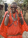 Masai with sun glasses Royalty Free Stock Image