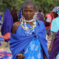 Masai women in africa woman tribe ethnic market with traditional jewellery Stock Photos