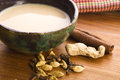 Masala chai with ingredients spicy tea Royalty Free Stock Photo