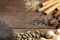 Masala Chai Tea Ingredients Spices Background Royalty Free Stock Photo