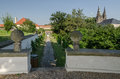Masaryk viewpoint prague castle czech republic picture of taken from situated in nearby park Stock Image