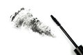 Mascara stroke black on white Royalty Free Stock Image