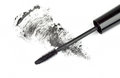 Mascara stroke black on white Stock Images