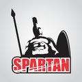 MASCOT CHARACTER POWERFUL SPARTAN WARRIOR