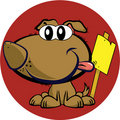 Mascot dog with sign Stock Images