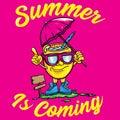 Mascot Summer Vector