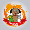 Mascots design over gray background vector illustration Royalty Free Stock Image