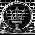 Maserati closeup of old badge Royalty Free Stock Photography