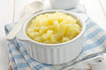 Mashed potato in a bowl Royalty Free Stock Photos