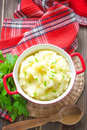 Mashed potato with fresh pasley Royalty Free Stock Photography