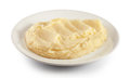 Mashed potatoes on the plate Royalty Free Stock Photo