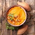 Mashed sweet potato Royalty Free Stock Photo