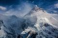 Masherbrum as seen from goro campsite baltoro glacier Stock Photos