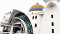 Masjid selat melaka the straits mosque malaysia is located near the seaside of famous malacca straits Royalty Free Stock Images