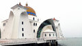 Masjid selat melaka the straits mosque melaka malaysia is located near seaside of famous malacca Royalty Free Stock Photography
