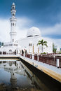 Masjid terapung terengganu tengku tengah zaharah also known as the floating mosque situated in kuala Royalty Free Stock Photography
