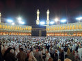 Masjidil haram mosque mecca saudi arabia mac thousands of muslims dispersed after prayer at Royalty Free Stock Photos