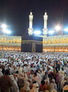 Masjidil haram mosque mecca saudi arabia mac thousands of muslims dispersed after prayer at Royalty Free Stock Images