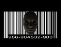 Mask with bar code dark Royalty Free Stock Photo