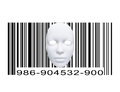 Mask with bar code white Royalty Free Stock Photo