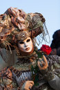 Mask on carnival, Piazza San Marco, Venice, Italy Royalty Free Stock Photography