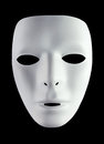 Mask for drama white isolated on black background Royalty Free Stock Images