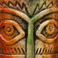Mask eyes a beautiful art work from india Royalty Free Stock Photos