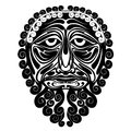 Mask face demon spirit silhouette there is abstract from pattern Royalty Free Stock Image