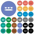 Mask manufacturing round flat multi colored icons Royalty Free Stock Photo