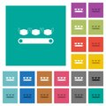 Mask manufacturing square flat multi colored icons Royalty Free Stock Photo