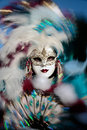 Mask portrait  carnival of venice italy Royalty Free Stock Image