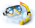 Mask and snorkel Stock Images