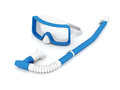Mask and snorkel on a white background Stock Photography