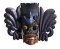 Mask from sri lanka wooden lankan in white back Stock Images