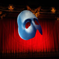 Mask stereoscopic on theater background Royalty Free Stock Photo