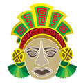 Mask in style of the maya head person Royalty Free Stock Images