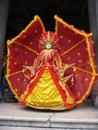 Maska karnawału Venice czerwony żółty Obraz Stock