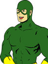 Masked man illustration of a wearing a green mask Royalty Free Stock Image