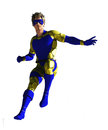 Masked superhero in flight Royalty Free Stock Image