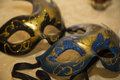 Masks black and blue venetian Stock Photography