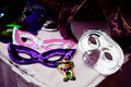 Masks colorful with feather theme of mardi gras Stock Photography
