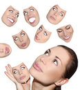Masks of mood Royalty Free Stock Photography