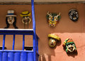 Masks the sacred valley of the incas peru on a wall in pisac in in Royalty Free Stock Image