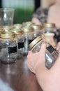 Mason jars Royalty Free Stock Photo