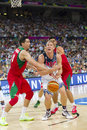 Mason plumlee of usa team at fiba world cup basketball match between and mexico final score on september in barcelona spain Royalty Free Stock Images