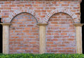 Masonry classic shape concrete wall with arches Royalty Free Stock Image