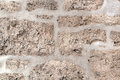 Masonry old stone structure with cement Stock Image